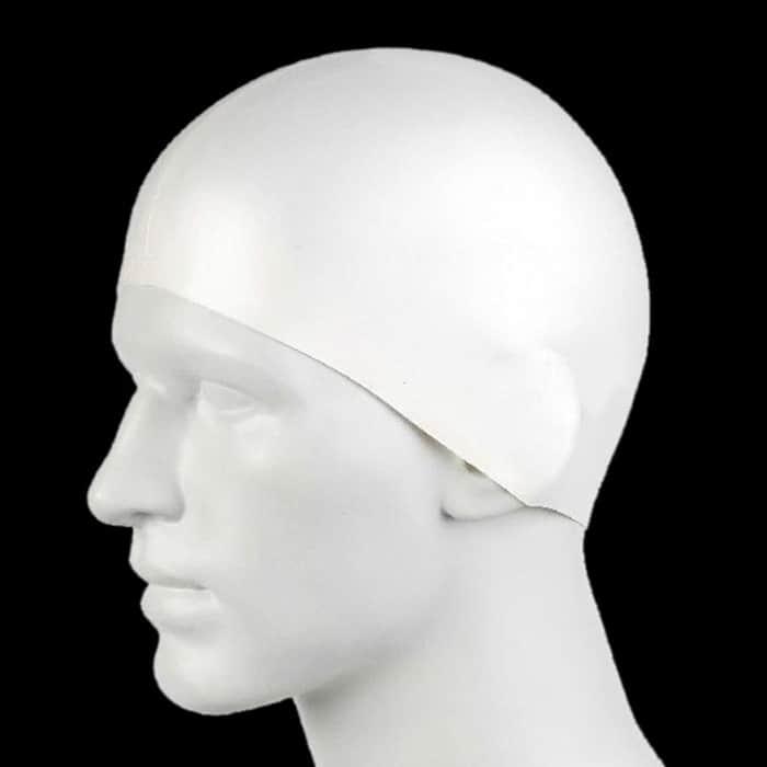 White Swim Cap